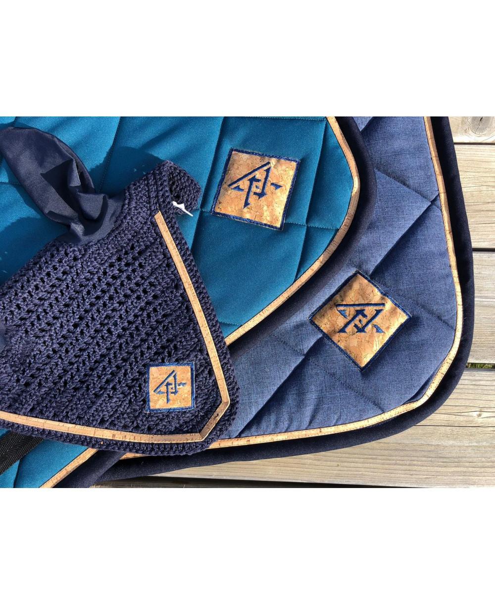 Couvre reins bleu marine
