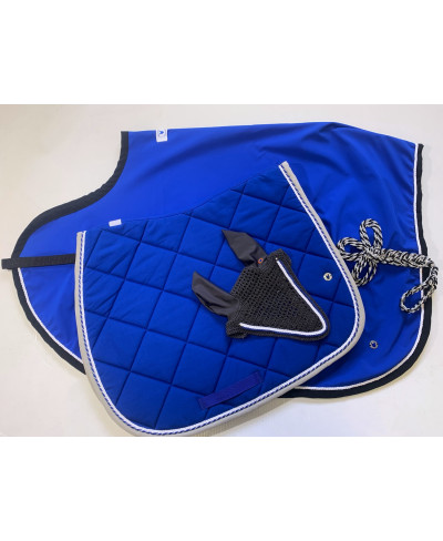Couvre reins FULL Bleu Roi et Noir