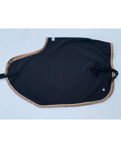 couvre reins softshell noir et cuivre